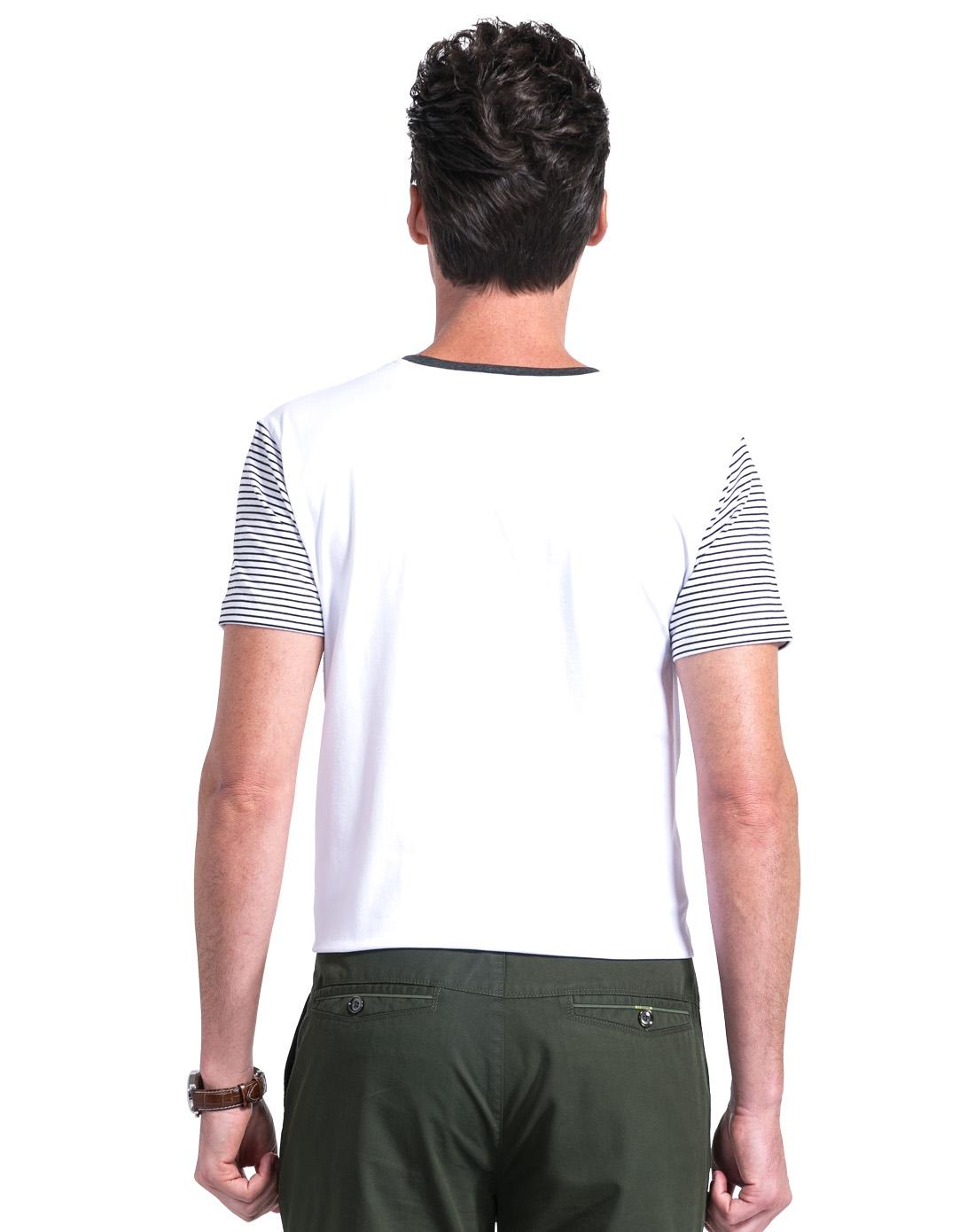 男款黑白条t恤