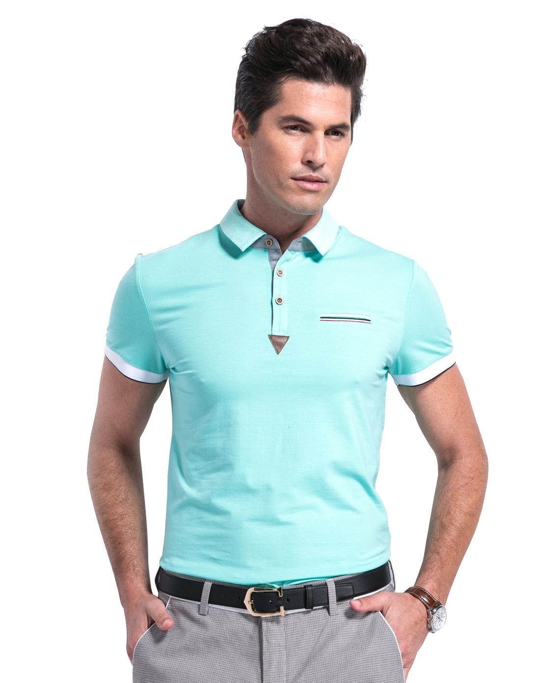 男荧光绿t恤