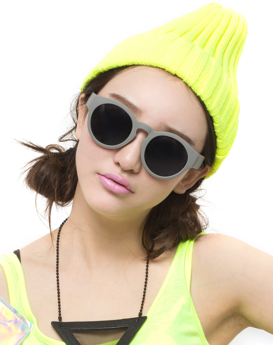 大框圆形欧美复古太阳眼镜