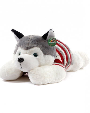 哈士奇儿童毛绒玩具狗75厘米