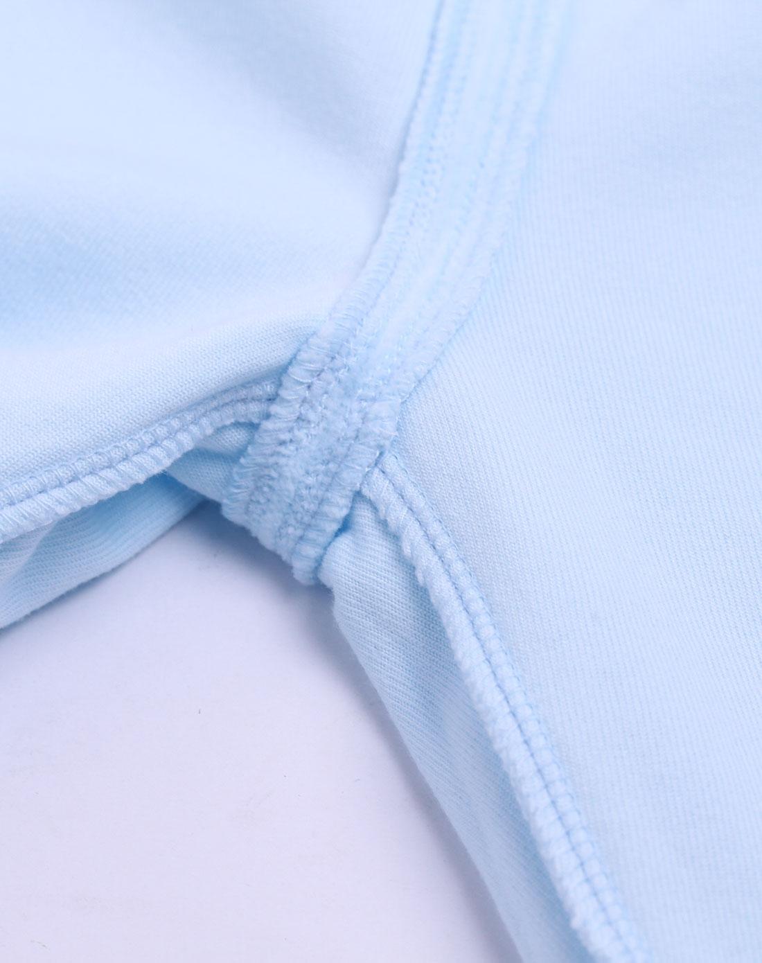 中性浅蓝色卡通套装
