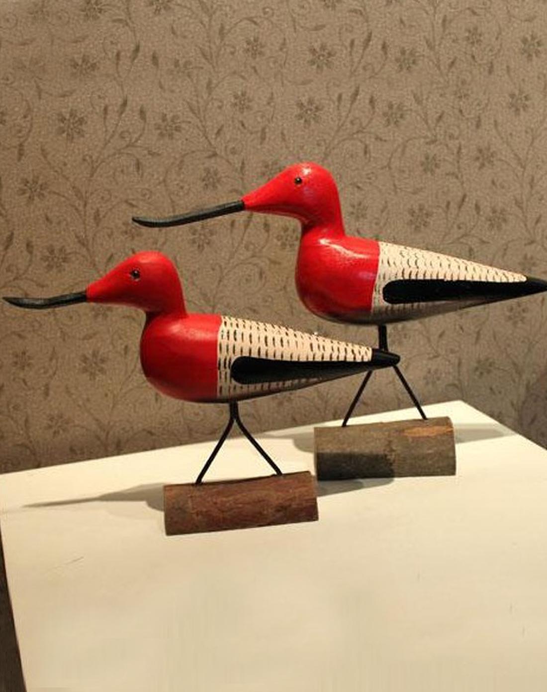 尖嘴鸟地中海手工木质工艺品