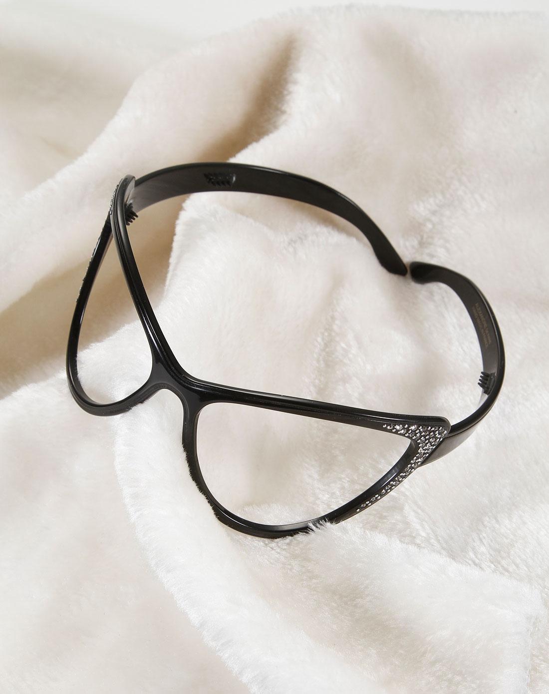 黑色眼镜造型时尚发箍