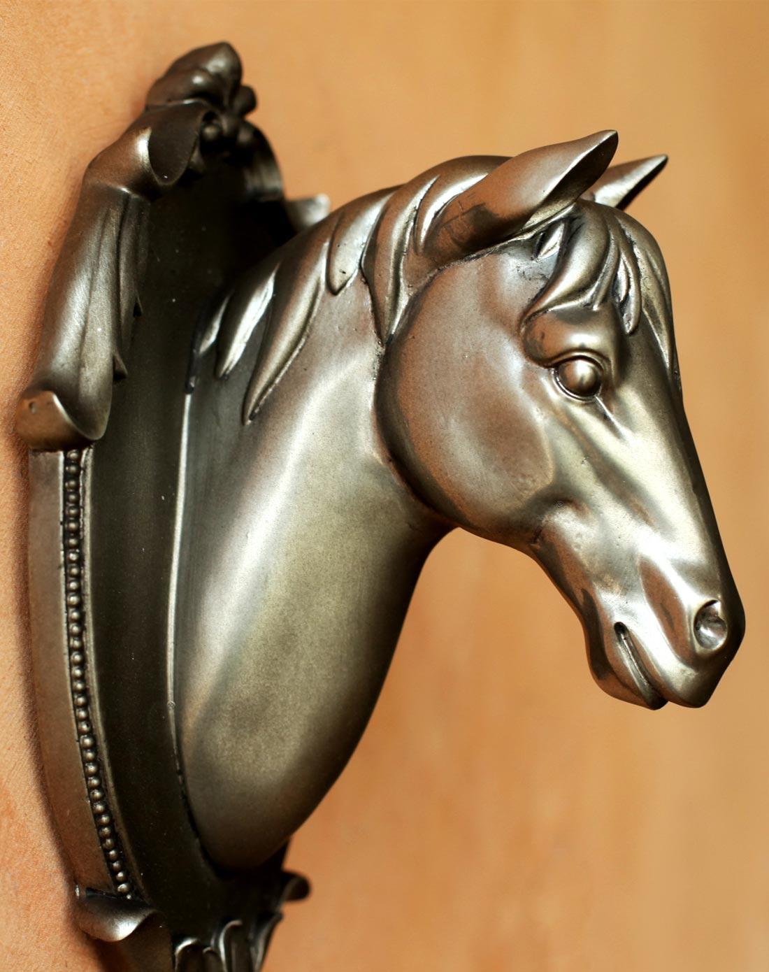 清颜骏马马头装饰挂钩玄关门厅欧式挂衣钩图片