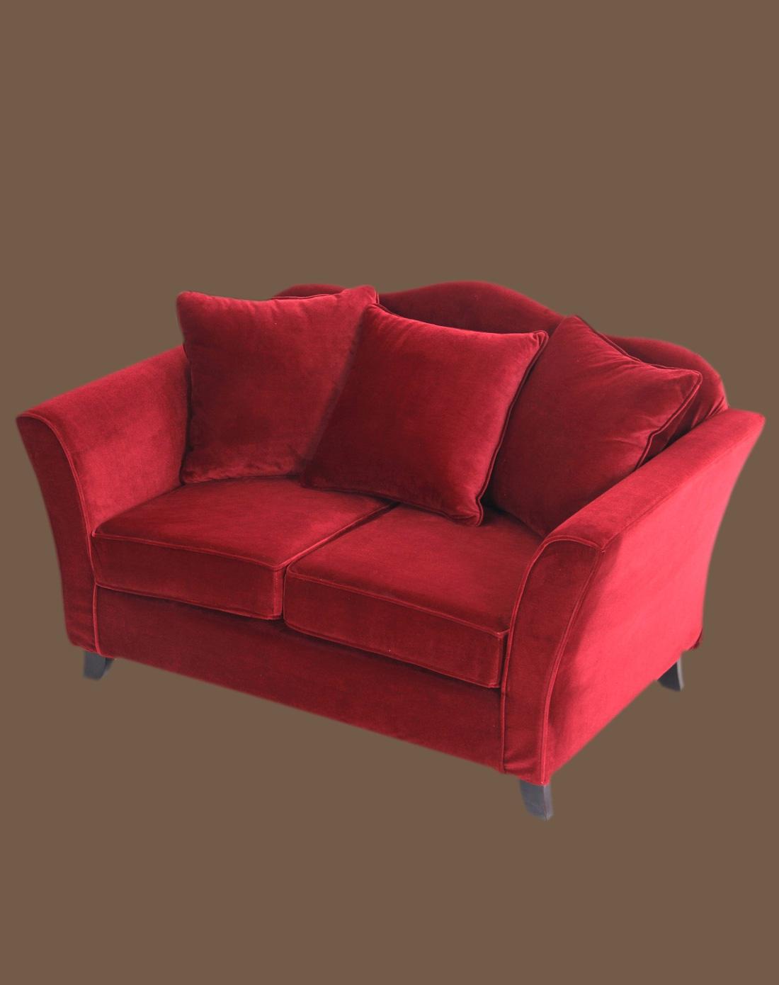美式古典布艺两人沙发图片