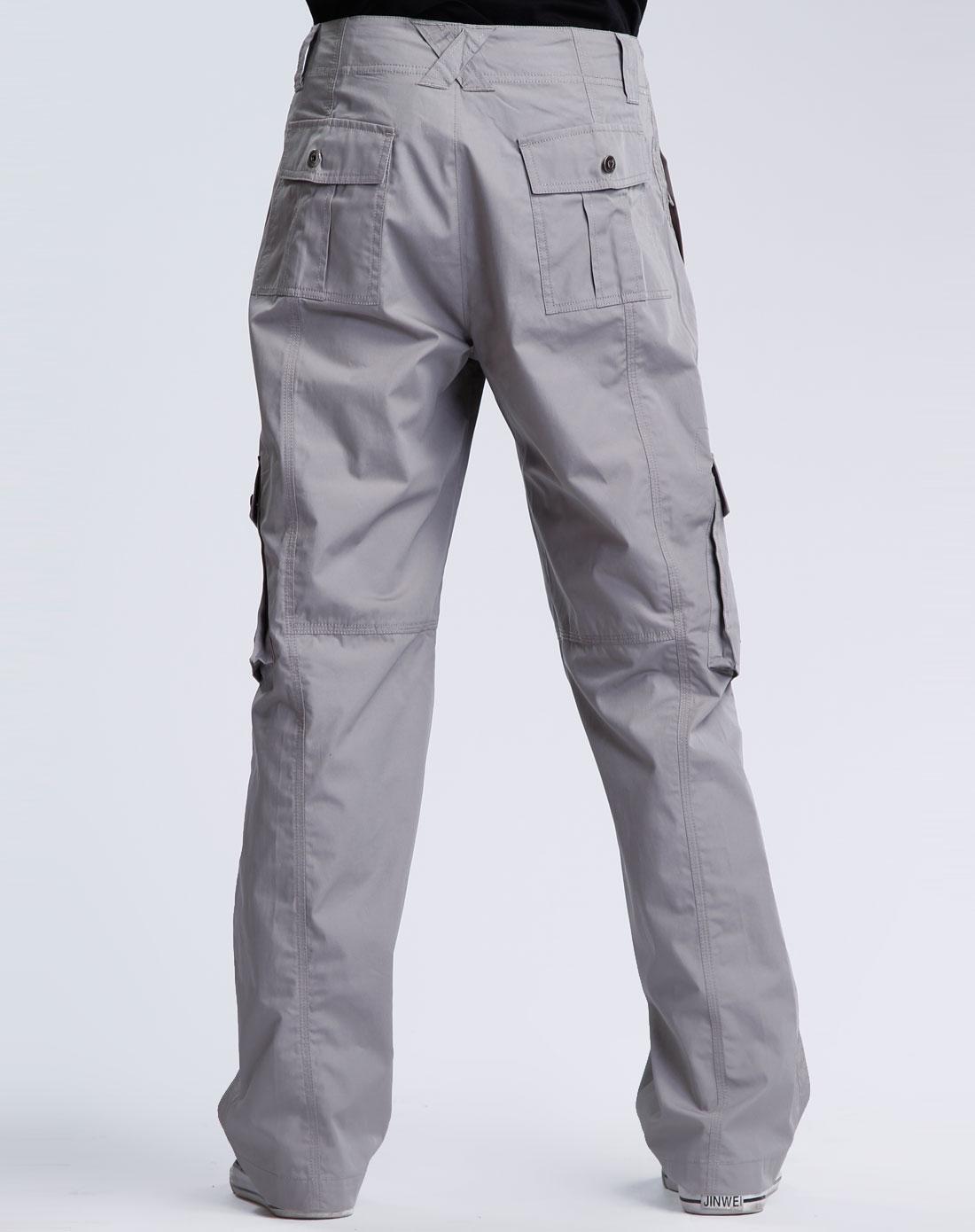 男款深灰色长裤