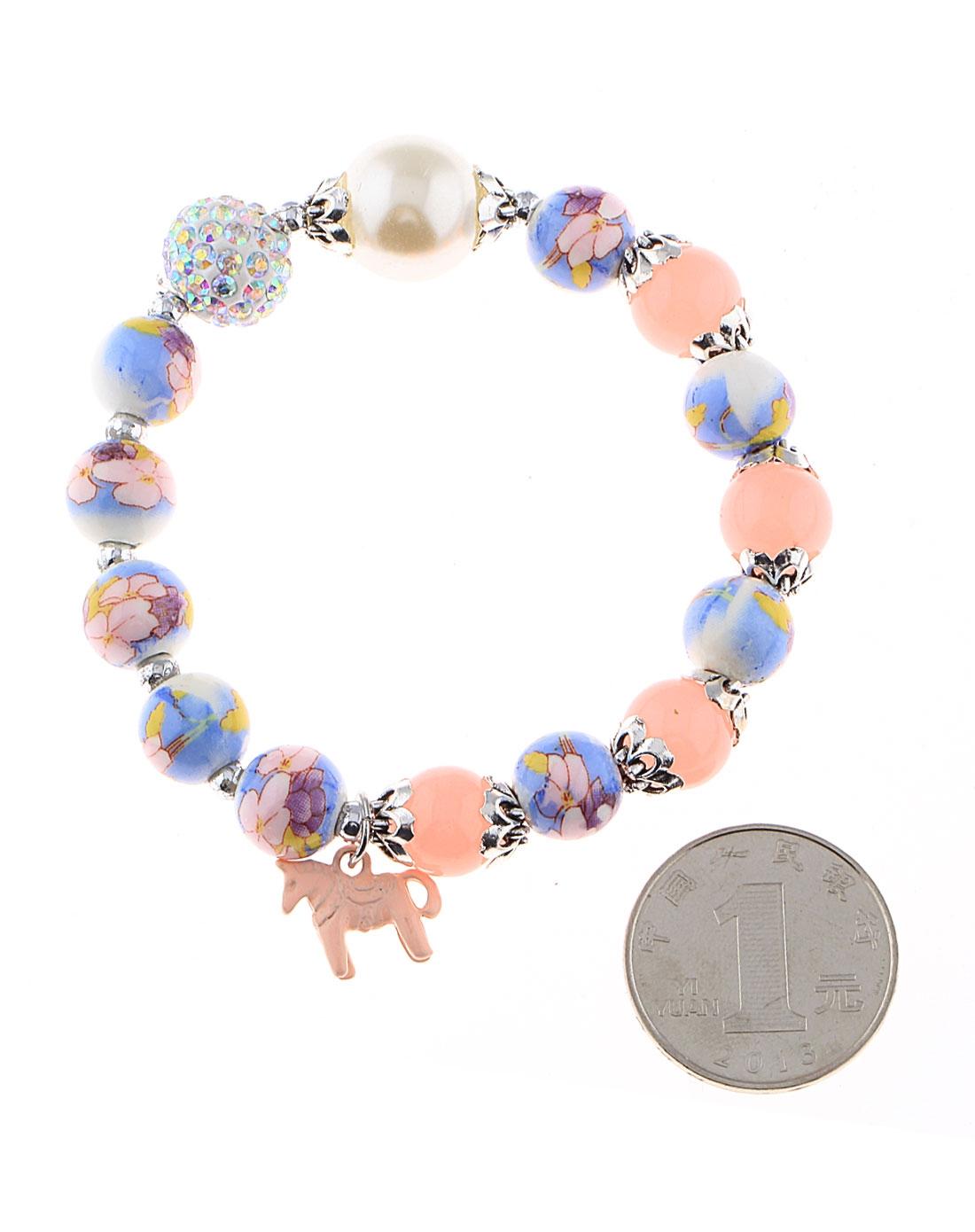 韩国进口水晶手绘珠子链