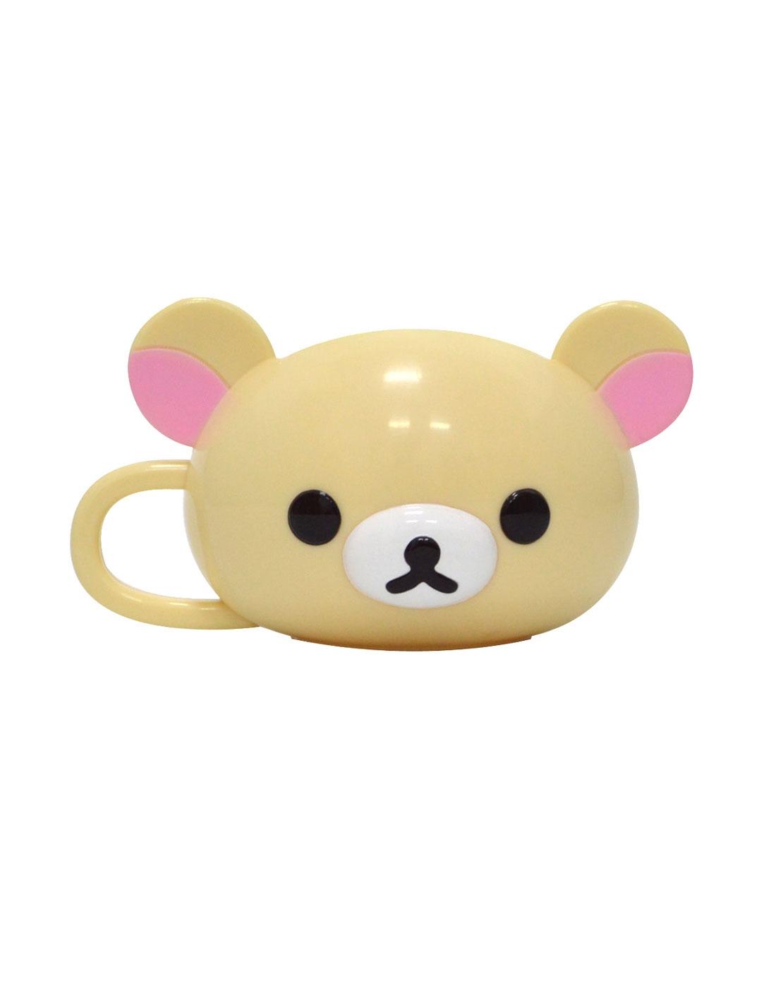 六一节文具礼盒&开心出游专场-轻松小熊 情侣水杯(米色)