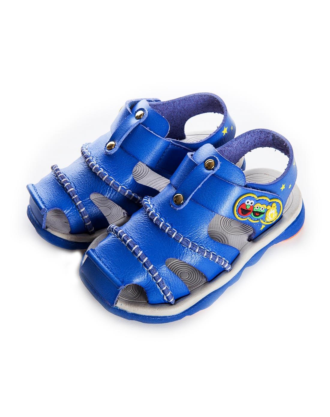巴布豆儿童专场-男童宝蓝凉鞋