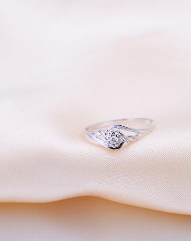 丝缠钻石戒指zsj0040