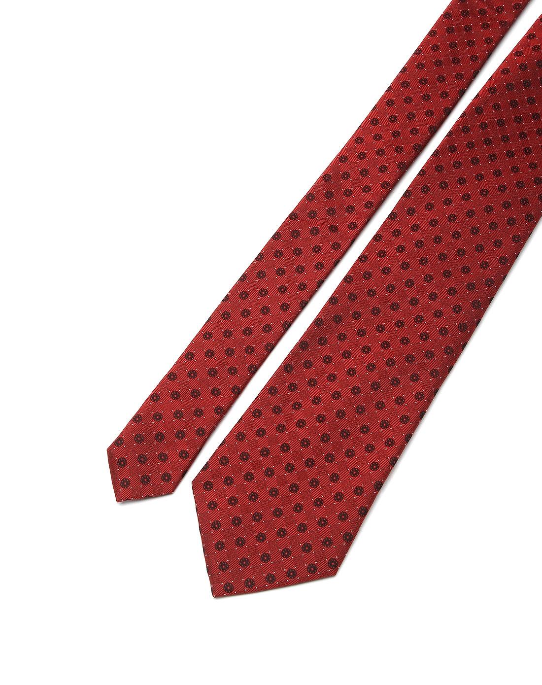 欧美时尚印花深红色领带
