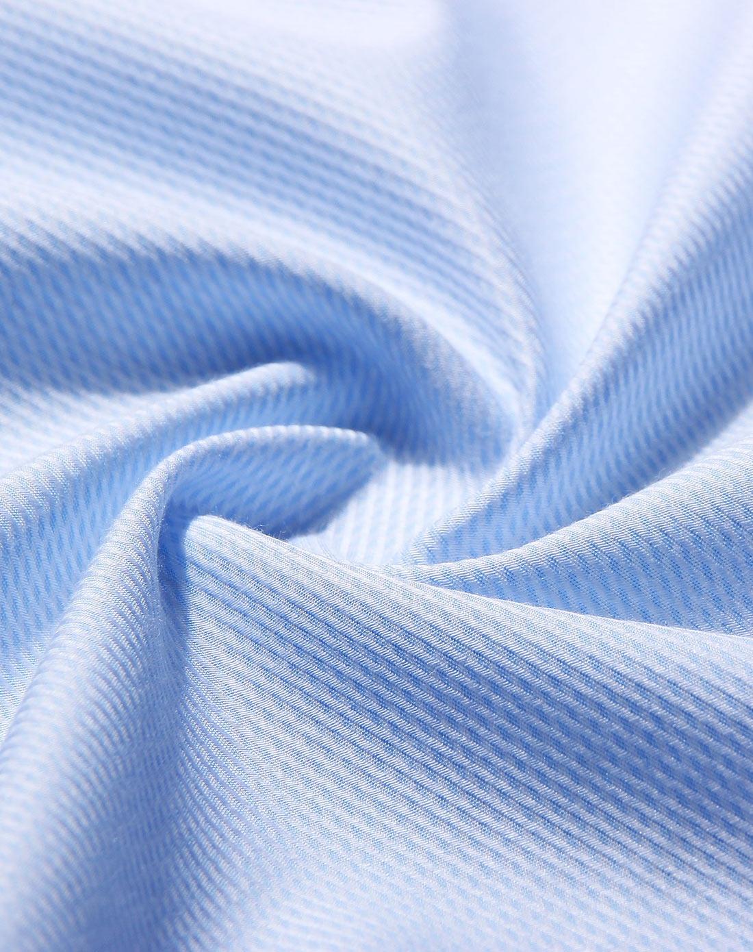 粉蓝色商务正装简约短袖衬衫