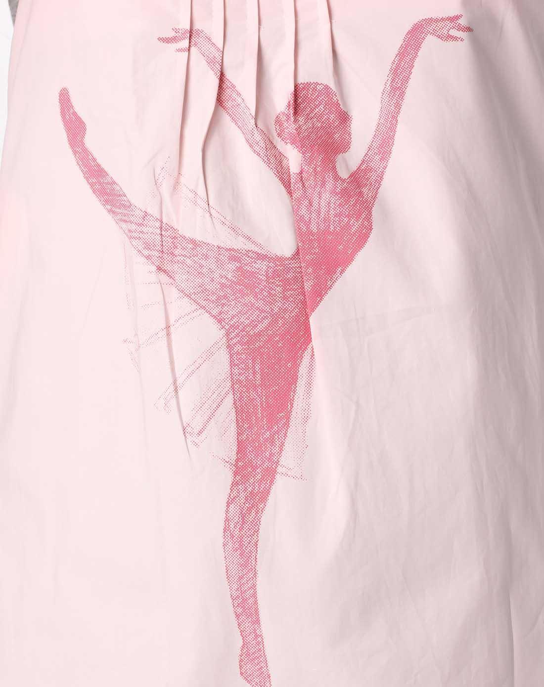 粉红色芭蕾舞者印图防辐射肚兜