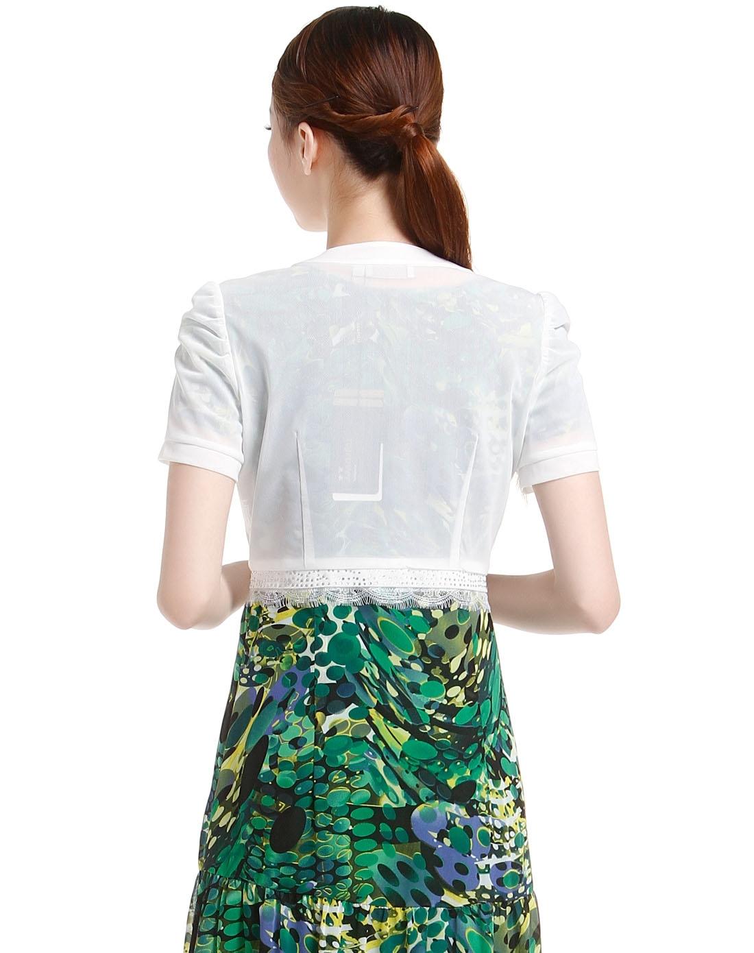 时尚白色短袖开衫