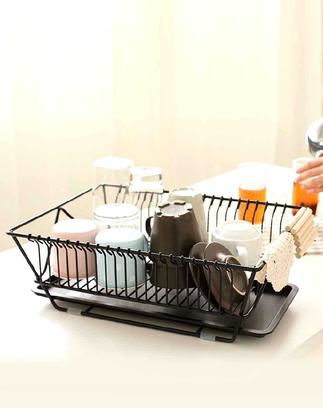 日本居优乐品joyolop家居用品专场黑色厨房餐具沥水