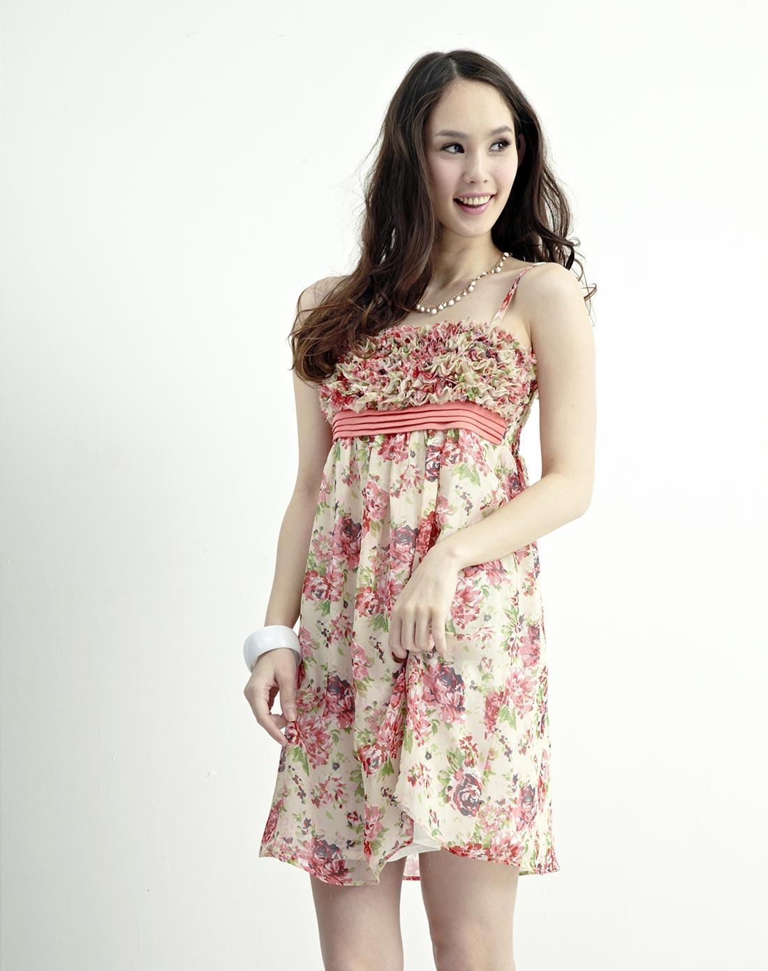 lisa米色抹胸裙as317170图片