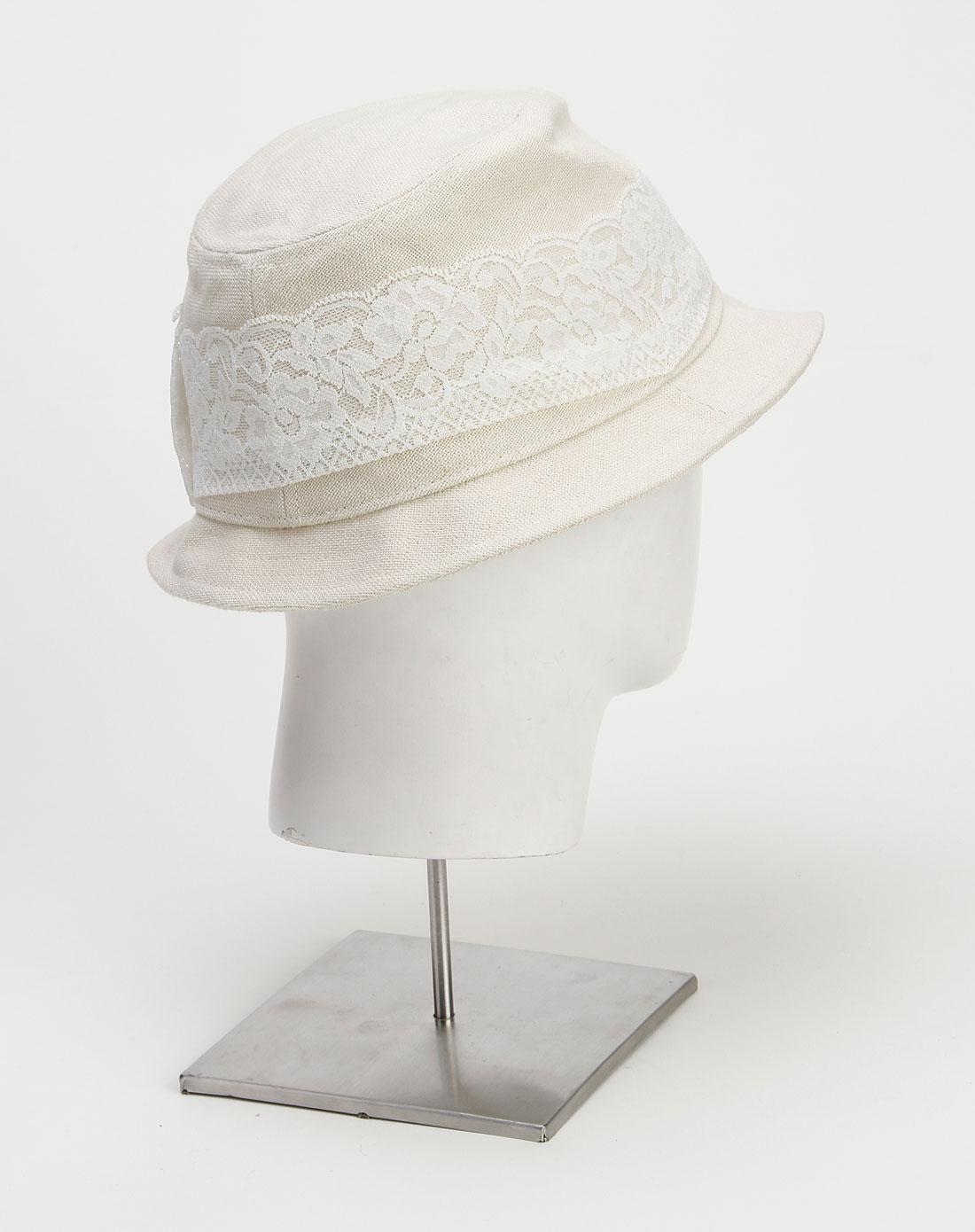 米/白色蕾丝蝴蝶帽子
