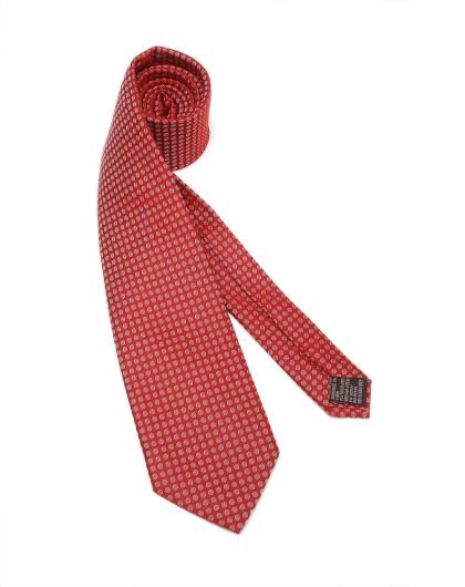 大红色时尚小圆圈领带