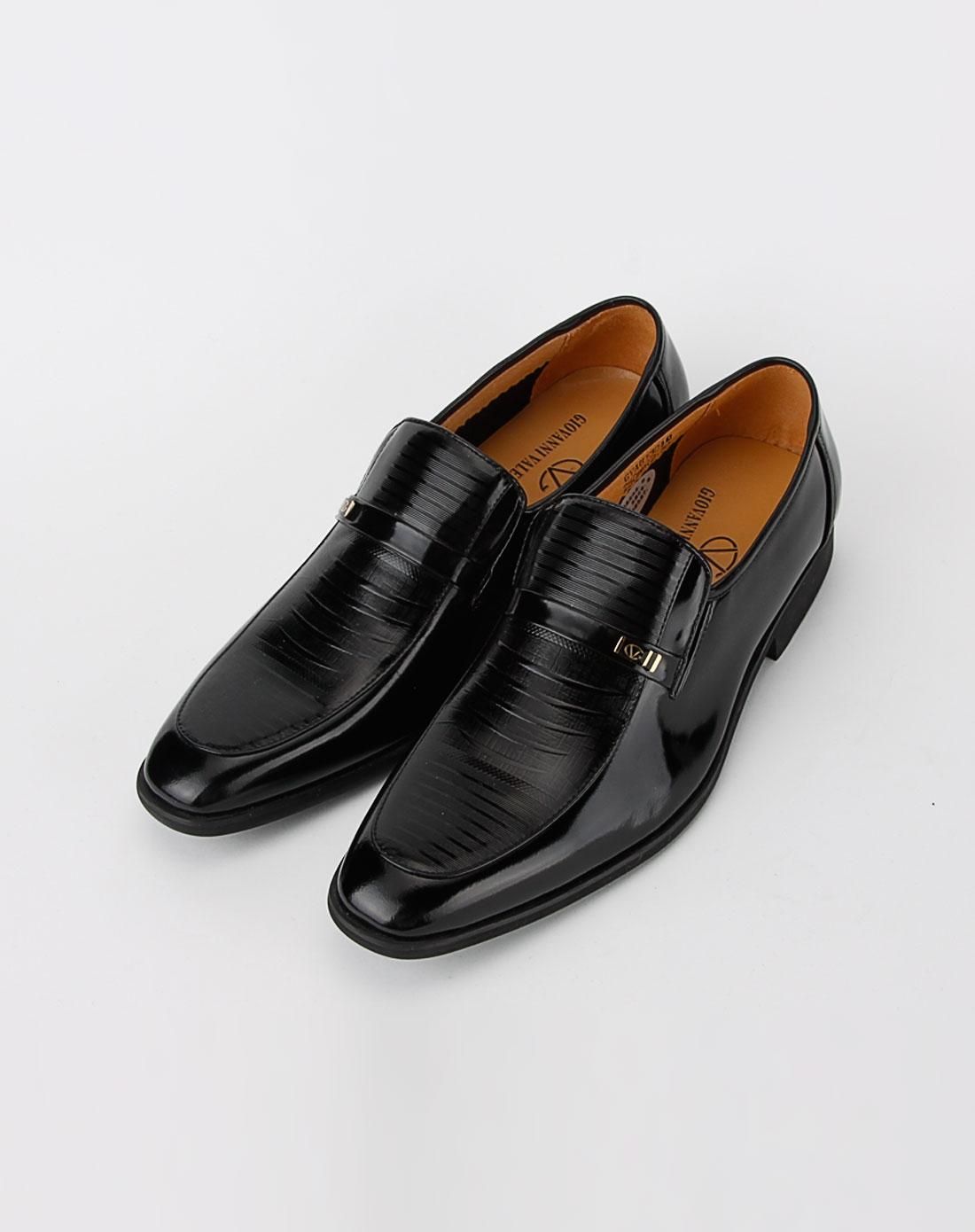 黑色休闲皮鞋11