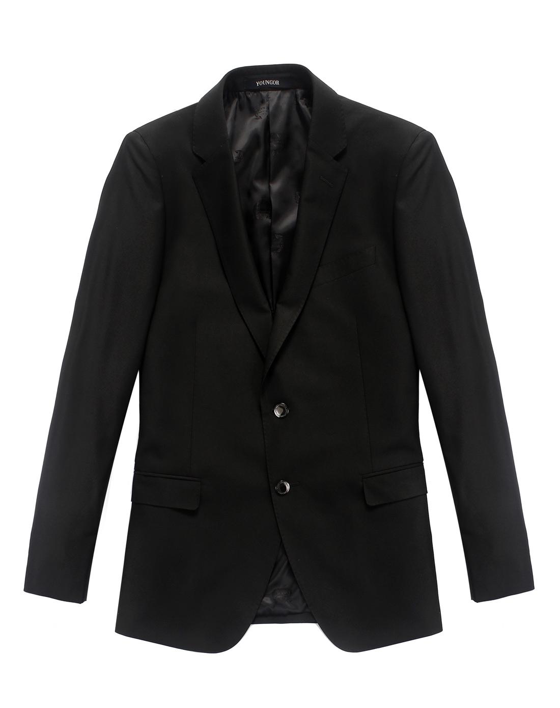 雅戈尔男士商务系列黑色套装西服图片