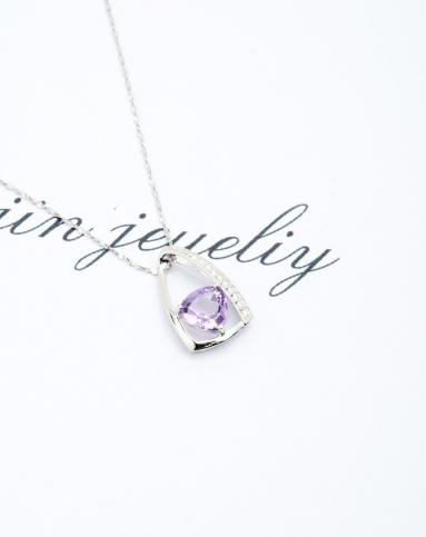 紫水晶素静吊坠