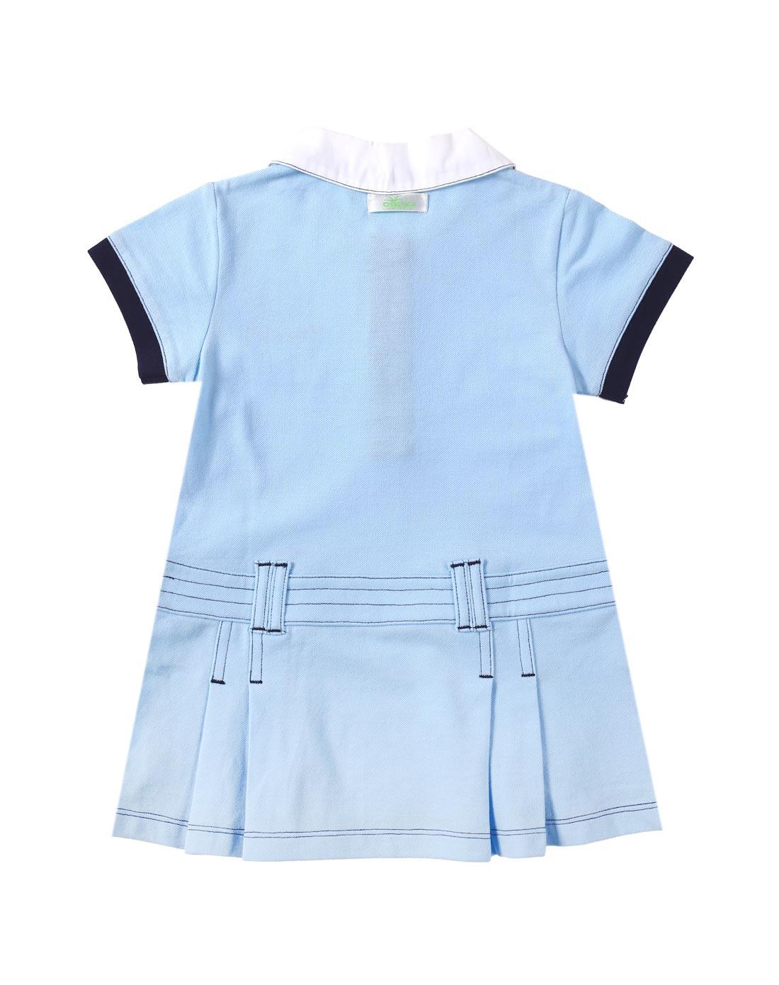 饰专场女童天蓝色可爱裙子