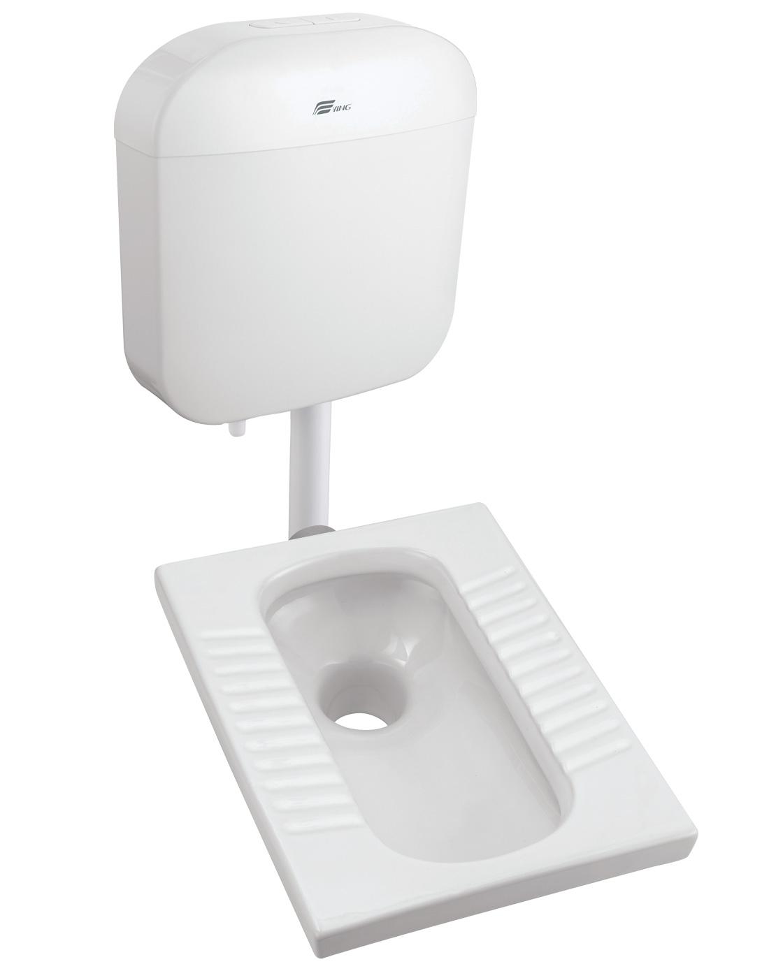 超节水蹲便器水箱组合(无存水弯)