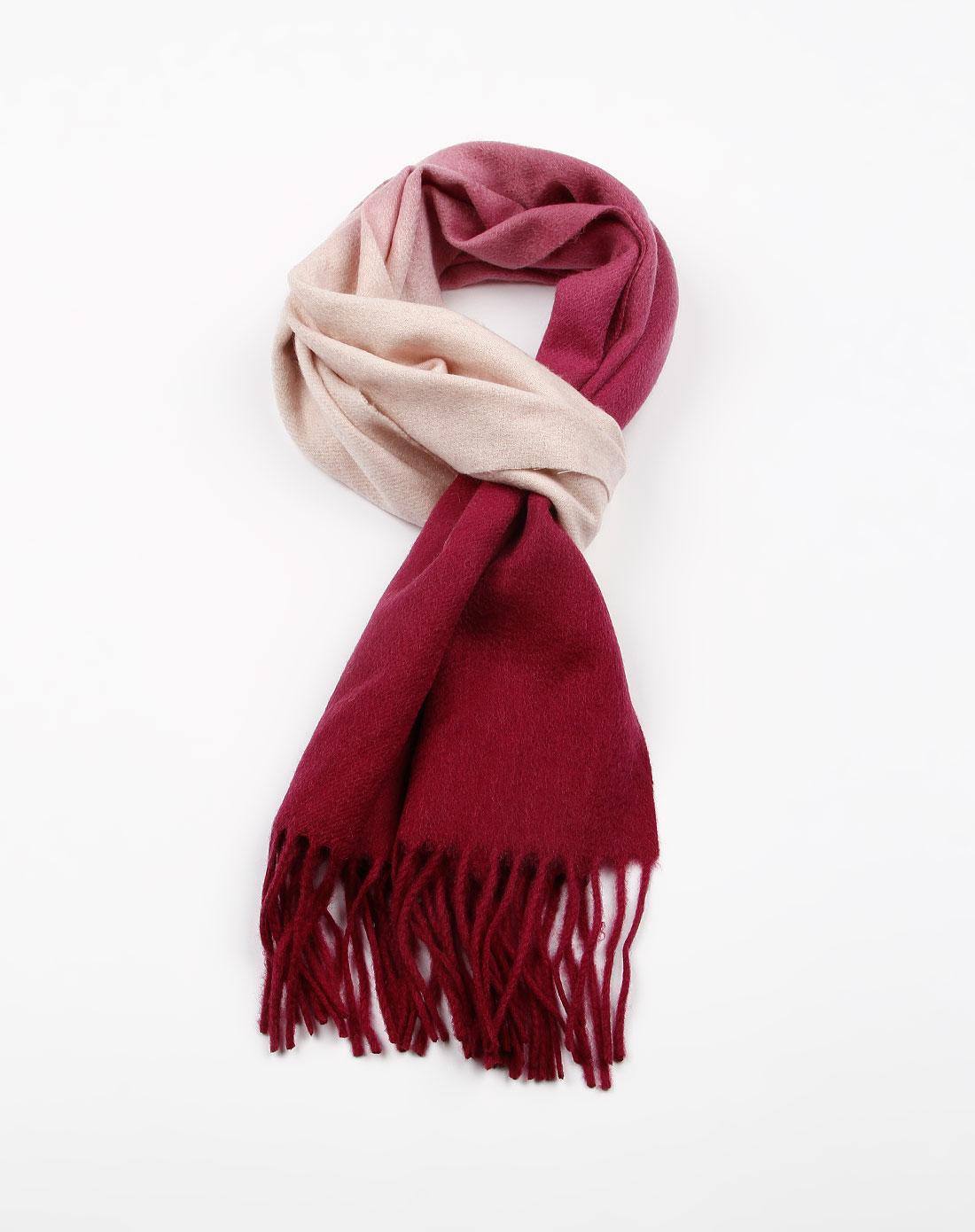 b&balos紫/白色渐变色羊绒围巾w2290215