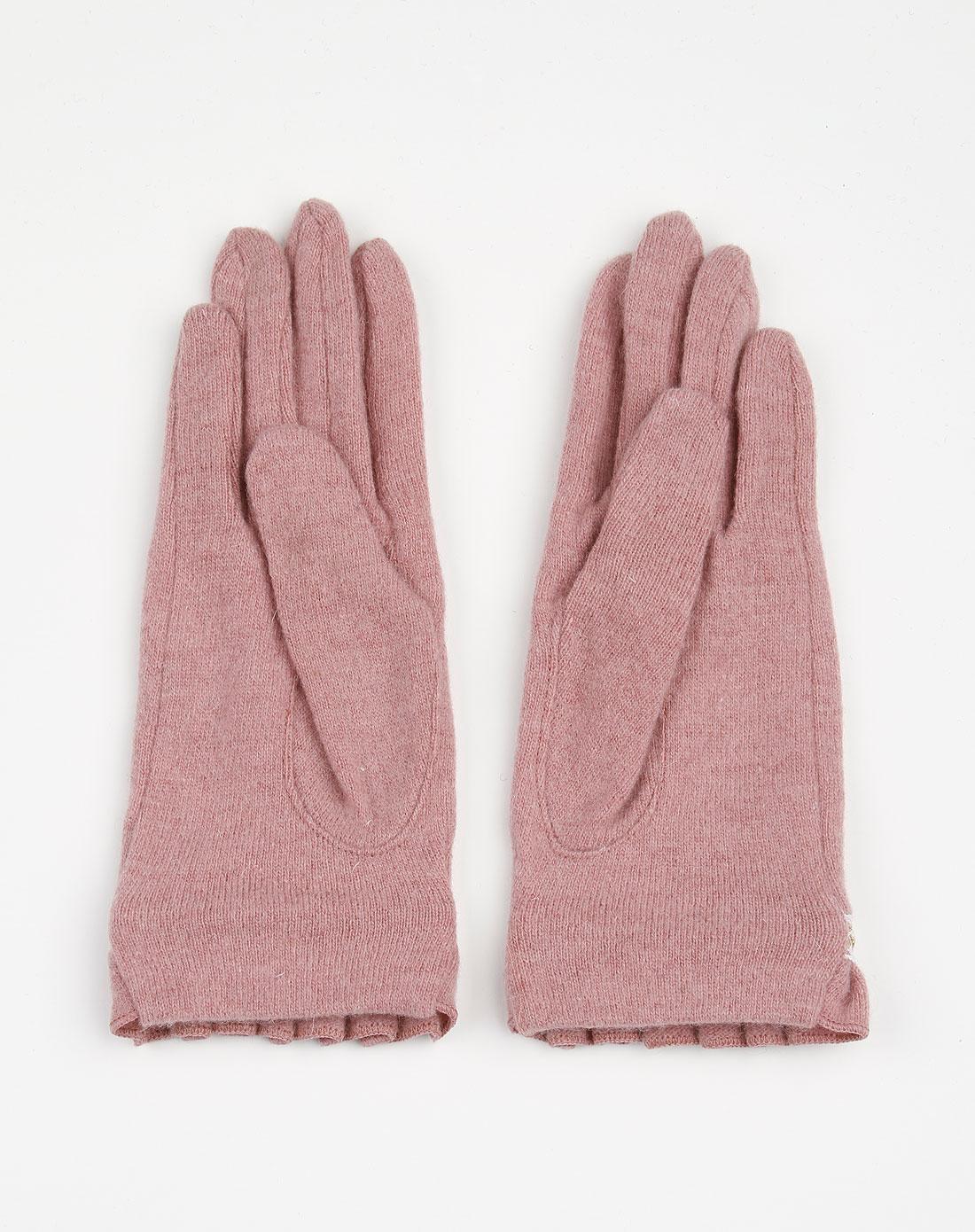 fenseb_b&balos-暗粉色简约手套