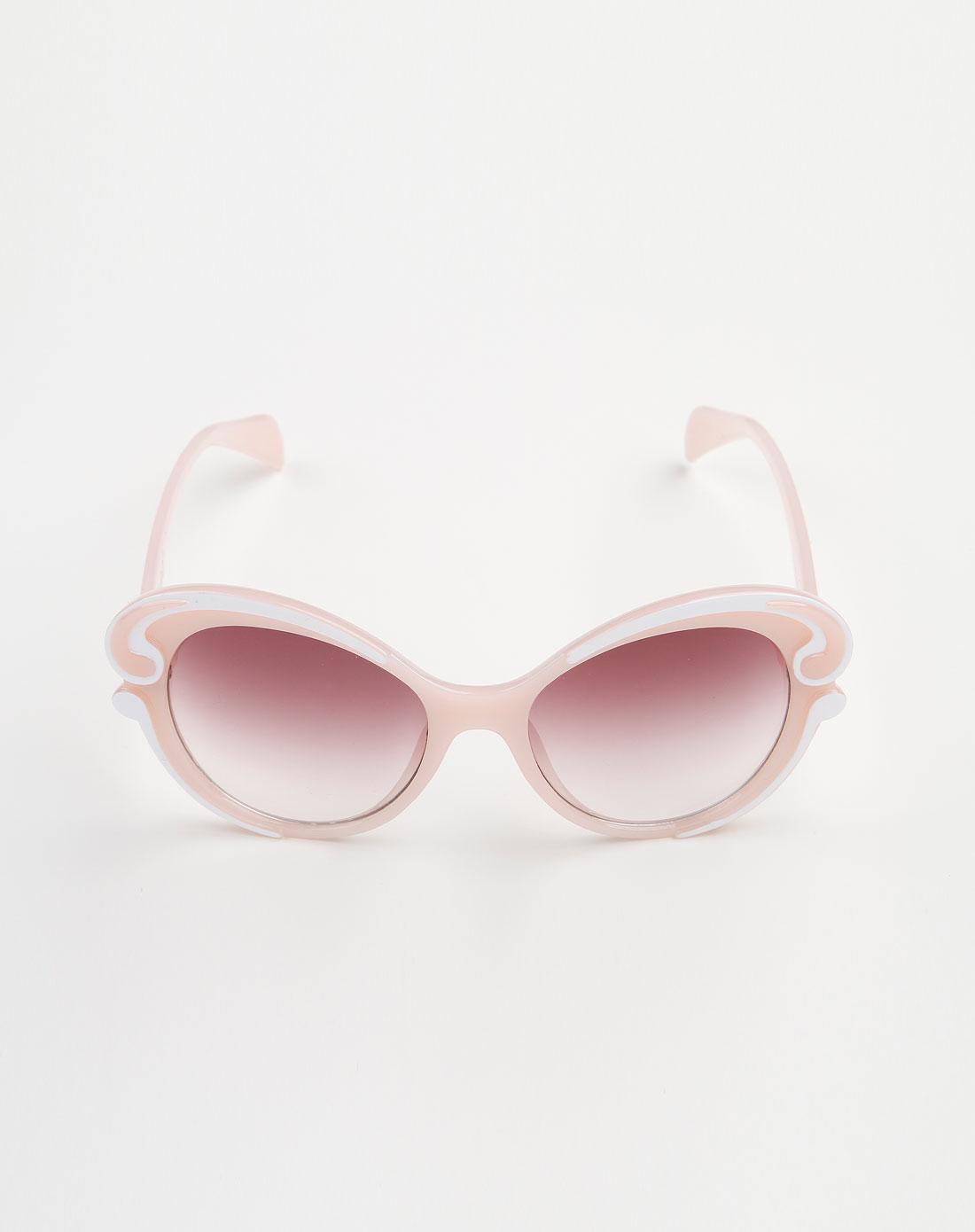 红/白/粉色可爱眼镜