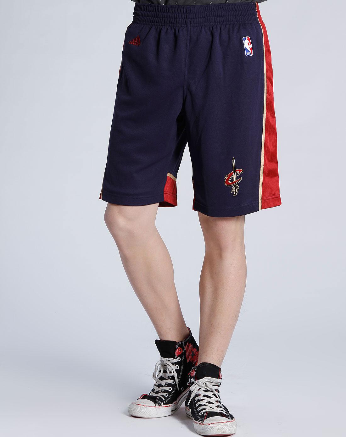 阿迪达斯adidas男装专场-男款深蓝色图案篮球短裤