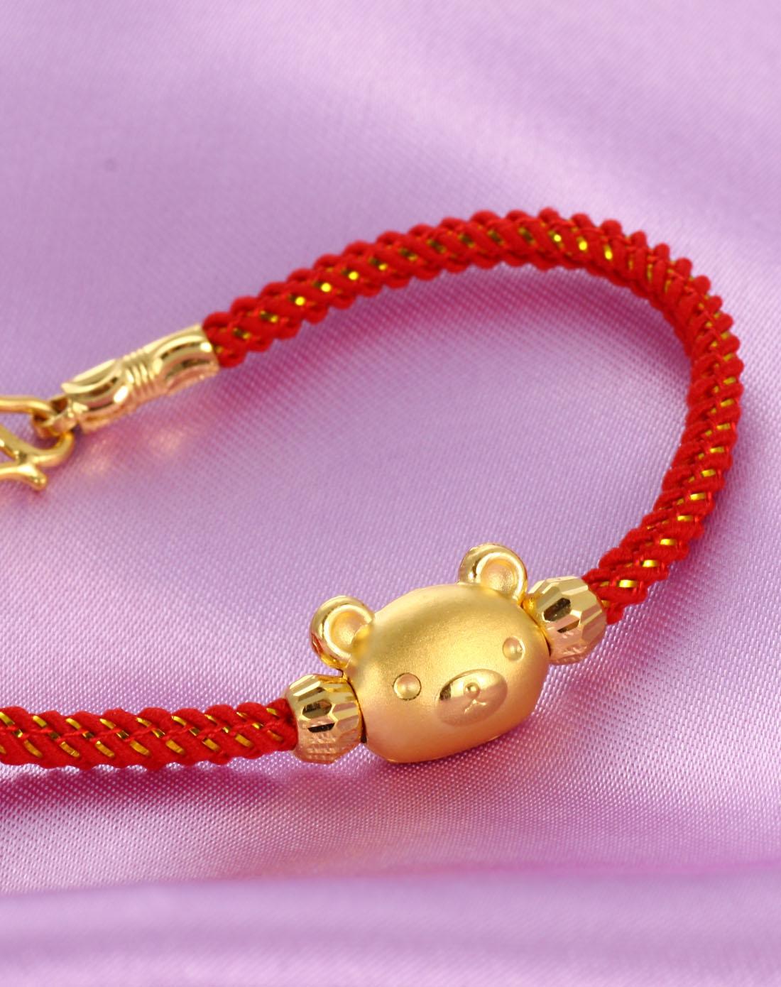 黄金串珠手链/红色