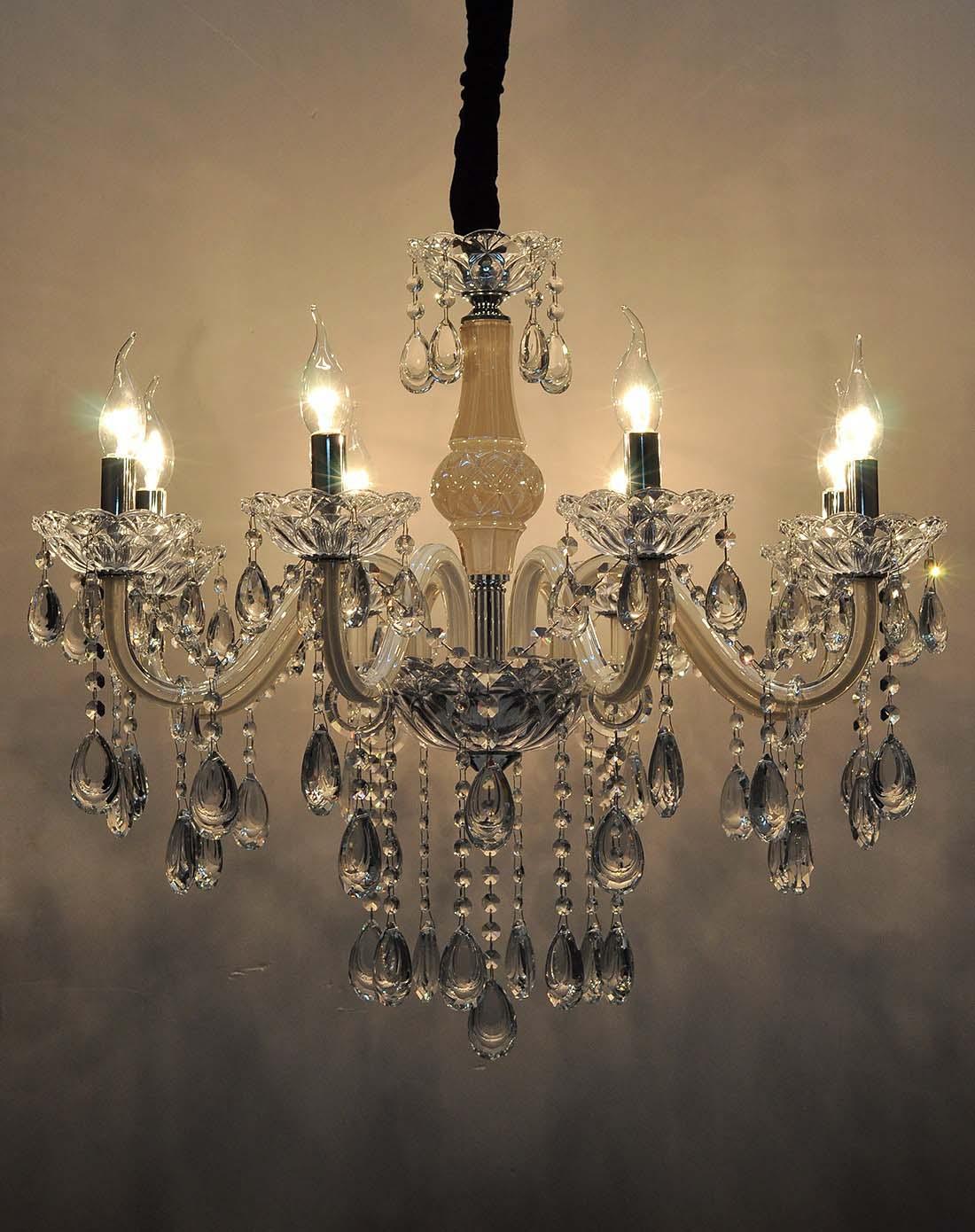 高档玻璃弯管奢华黄水晶吊灯d22-8