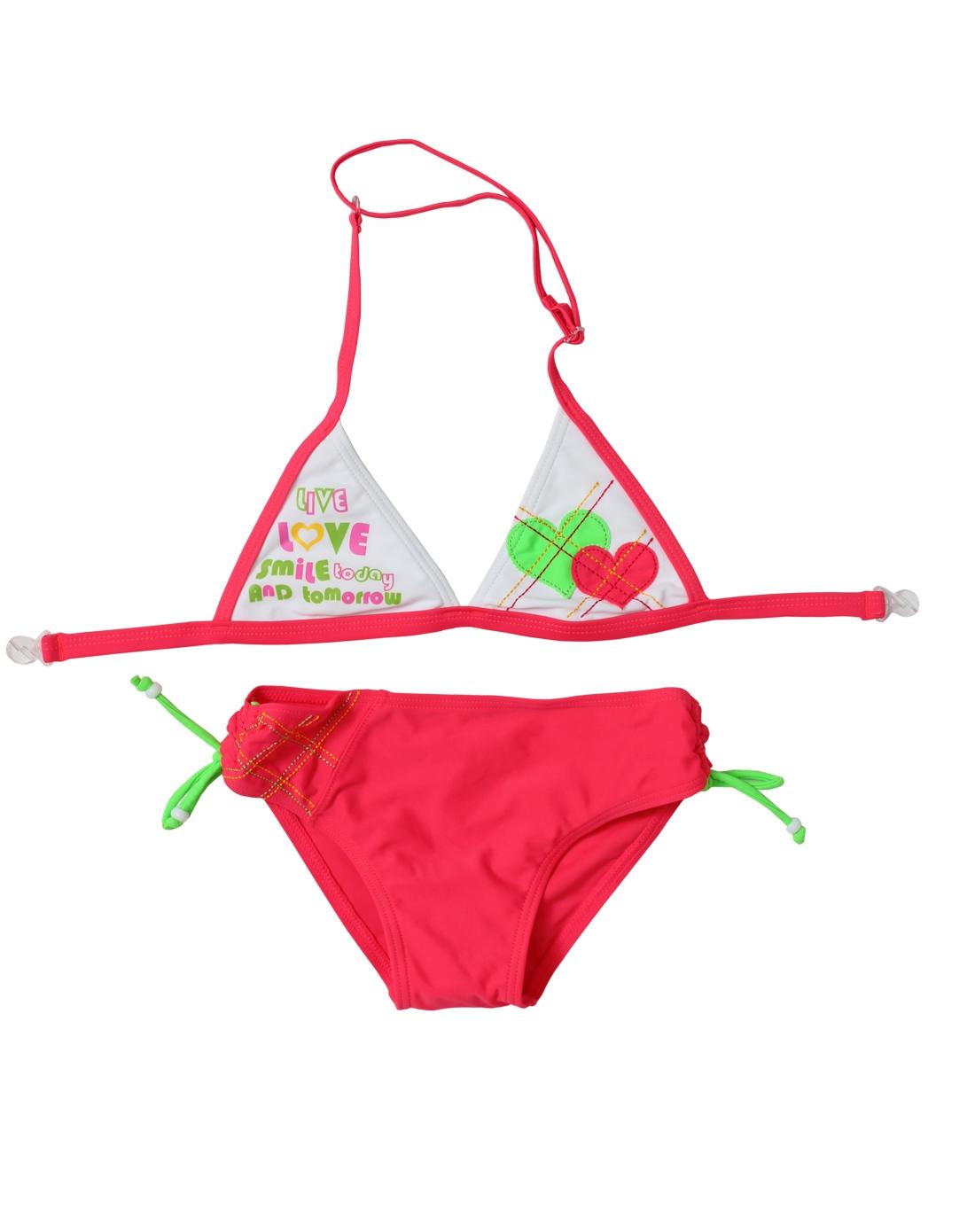女童红色欧美可爱比基尼泳装