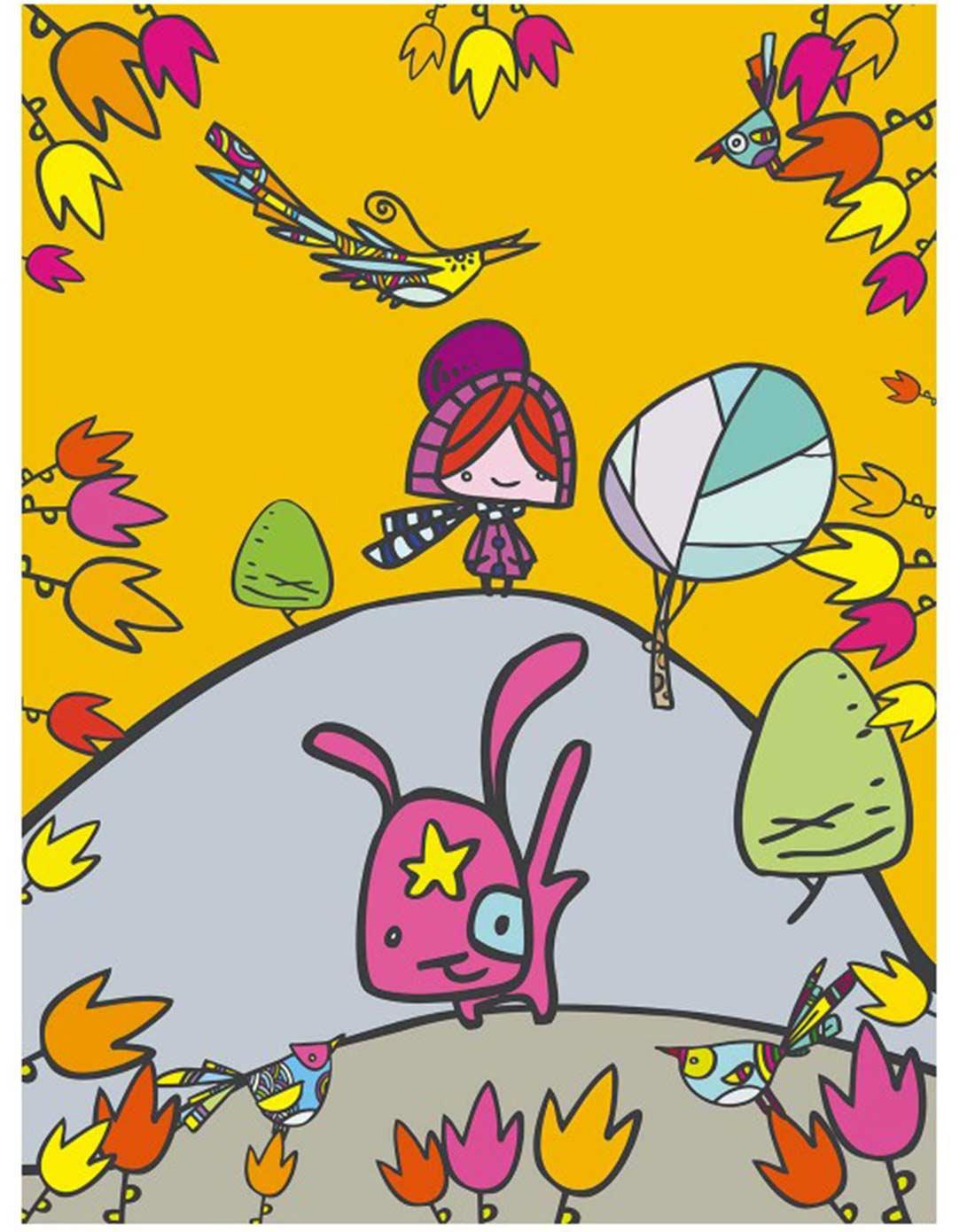 意大利艺术家动物主题绘画装饰画(送挂钩)