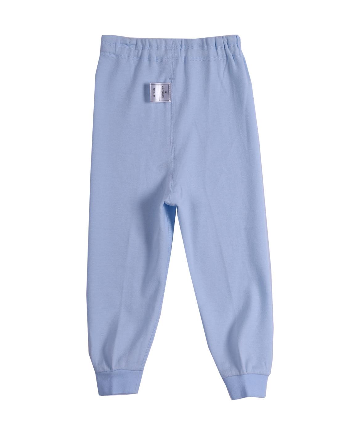 中性浅蓝色纯色长裤