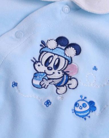 中性浅蓝色卡通连体衣