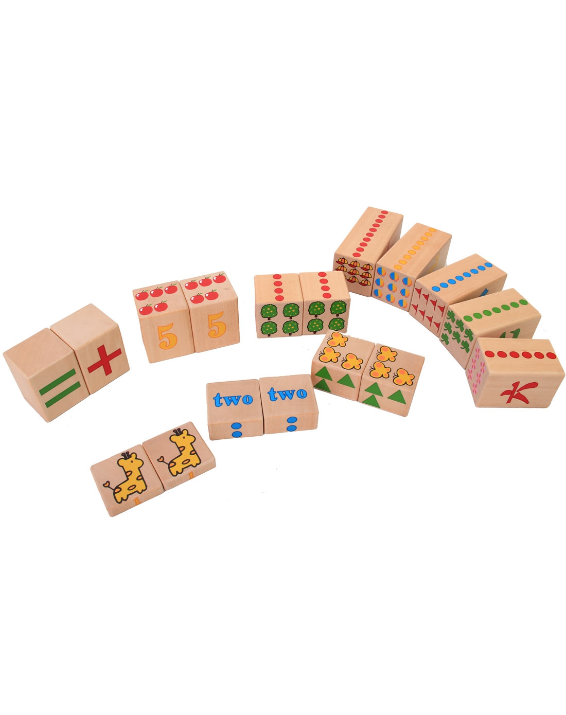 儿童益智玩具数学积木块