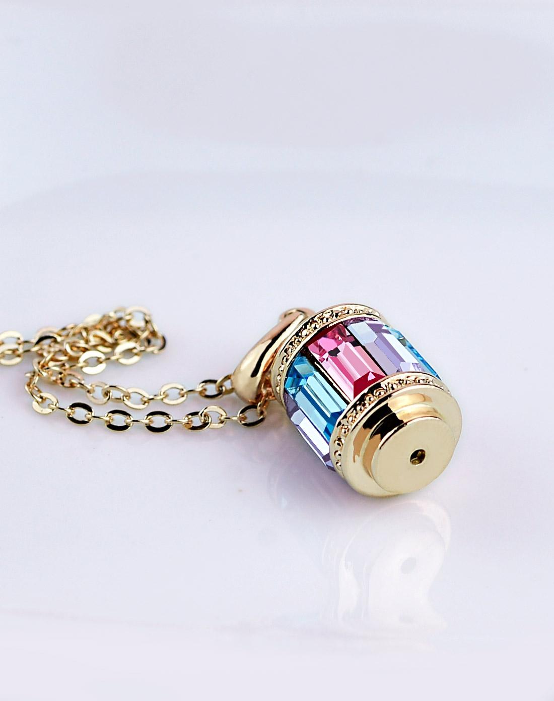 蛟蓓玲珑塔水晶项链-彩色j13021908彩色