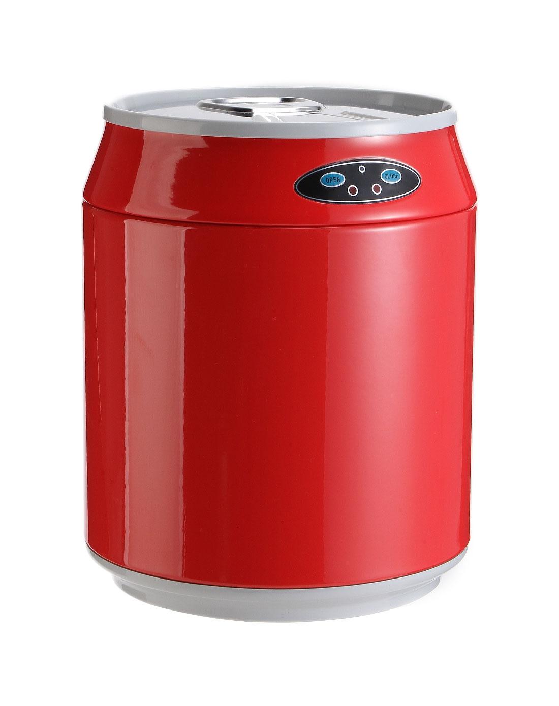 华玲大鹰红色可乐罐式感应垃圾桶