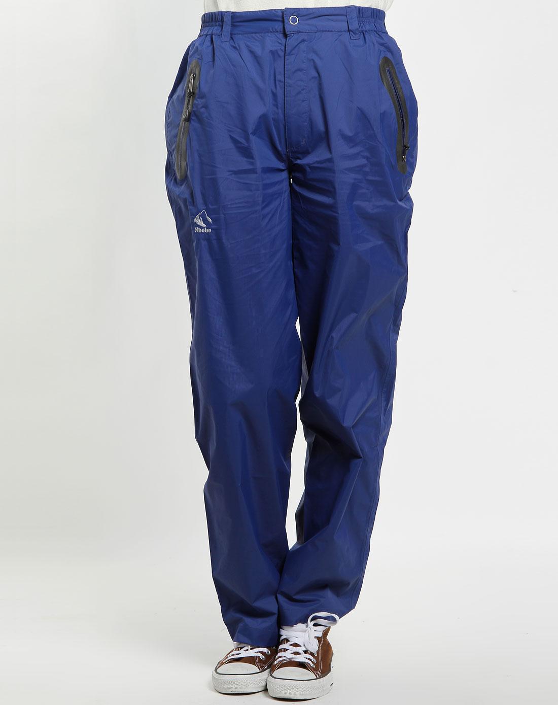 女款蓝色休闲长裤