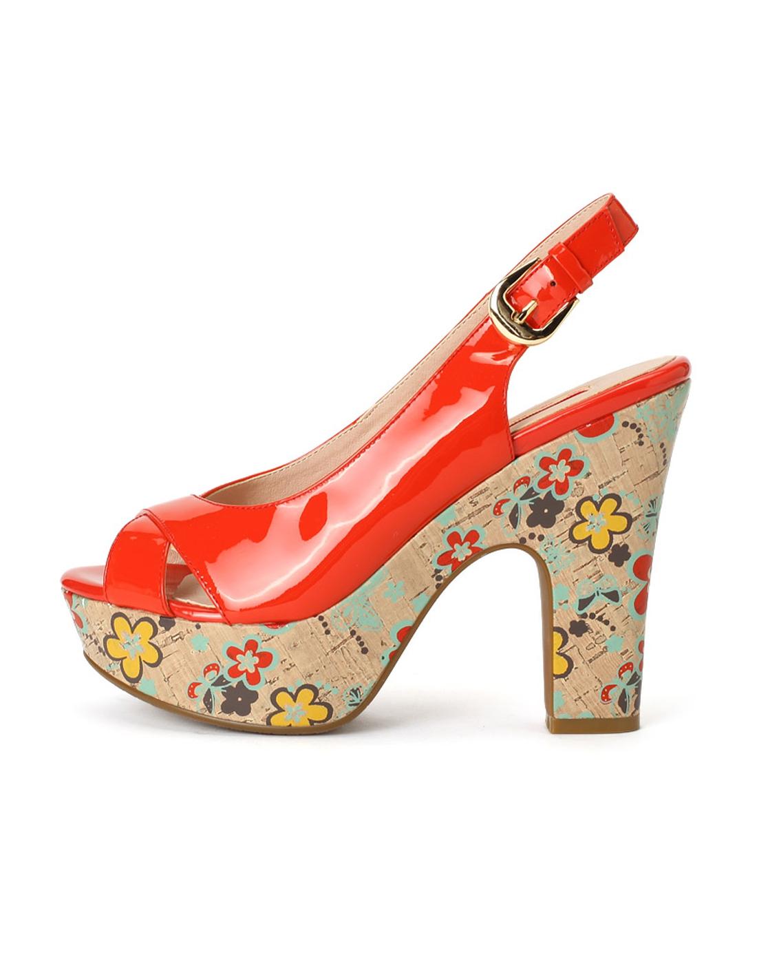 哈森harson集团品牌女鞋爱旅儿aller-a女款枫红色头图片