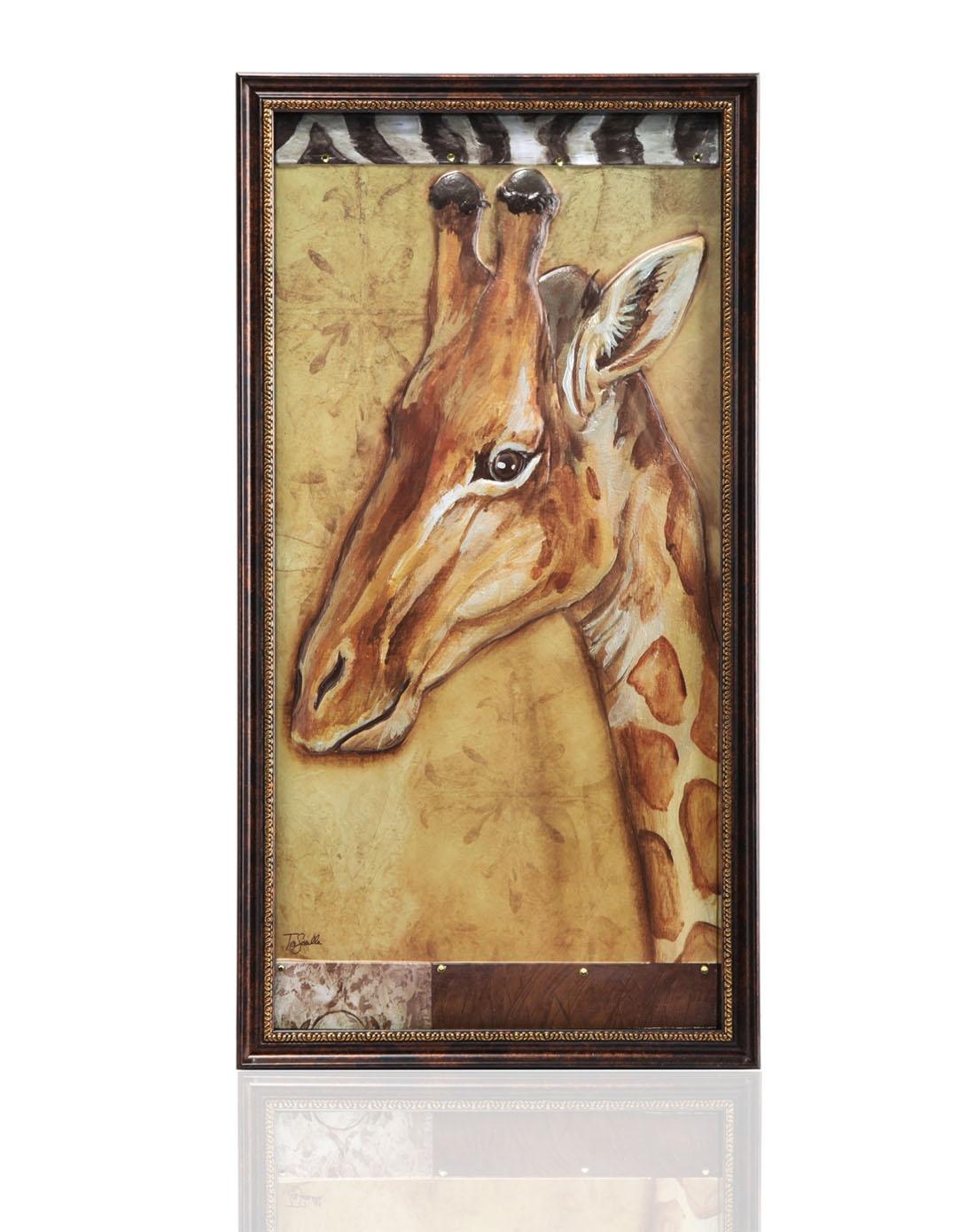 雅工坊立体浮雕装饰画-非洲长颈鹿901100003