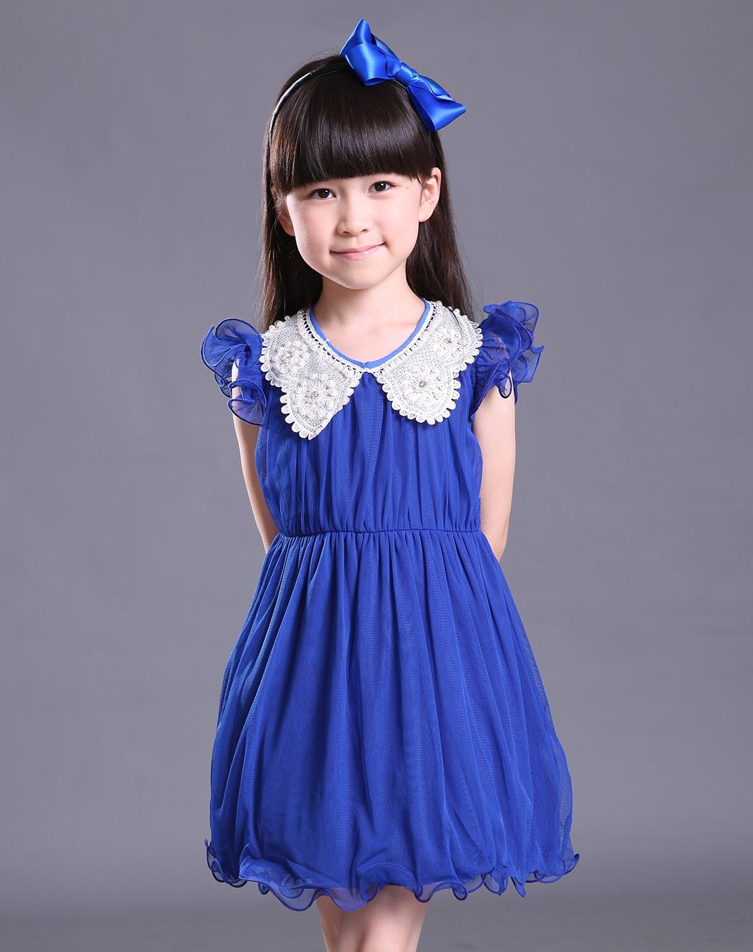女童宝兰连衣裙