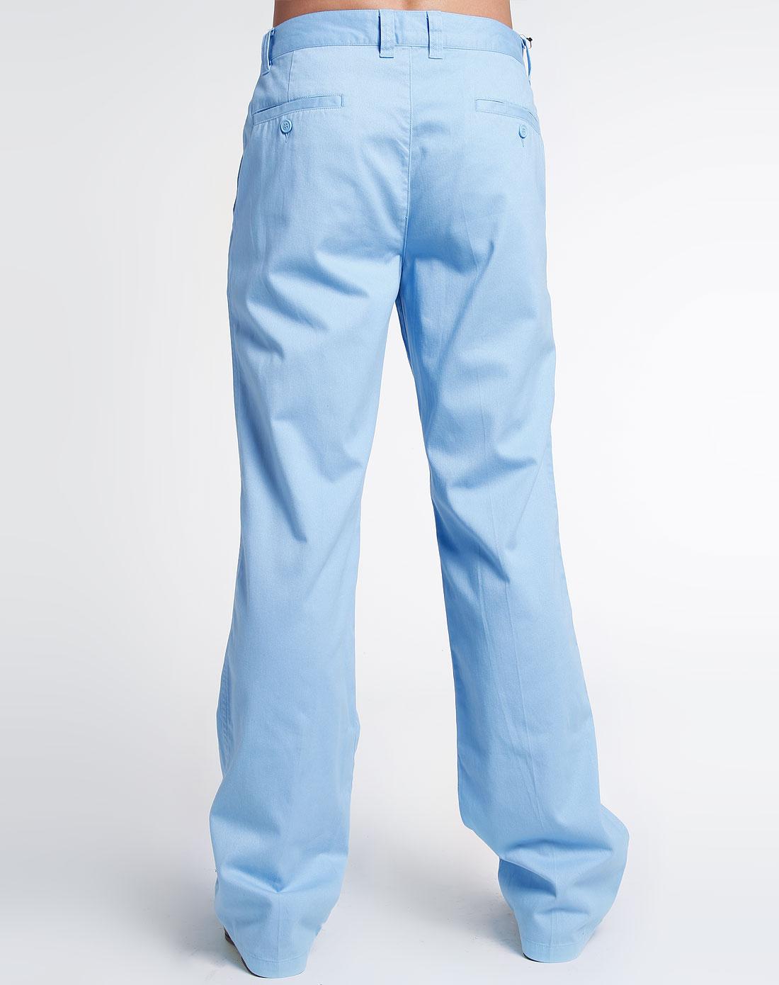 浅蓝色休闲长裤