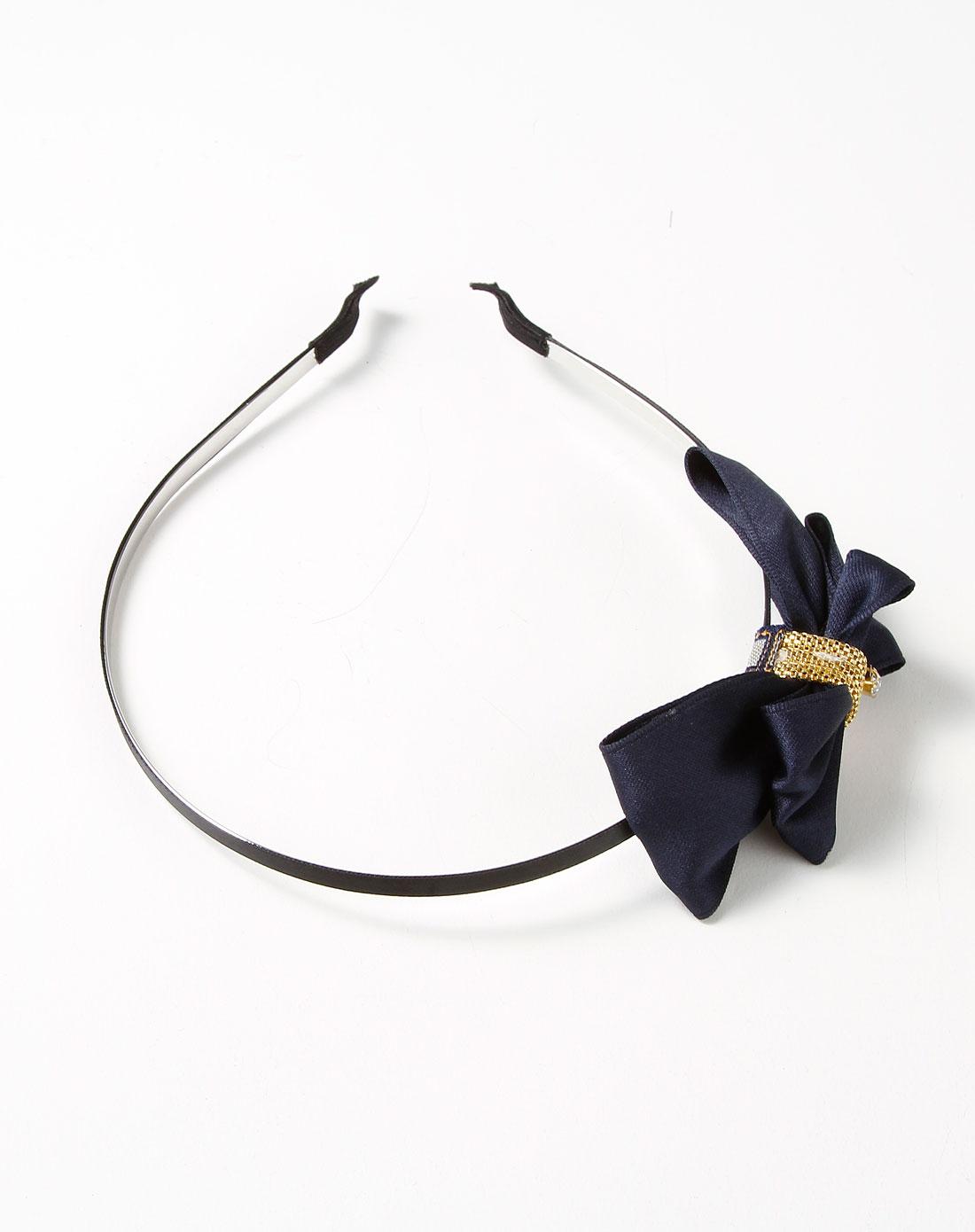 藏青/金色可爱时尚蝴蝶结发箍