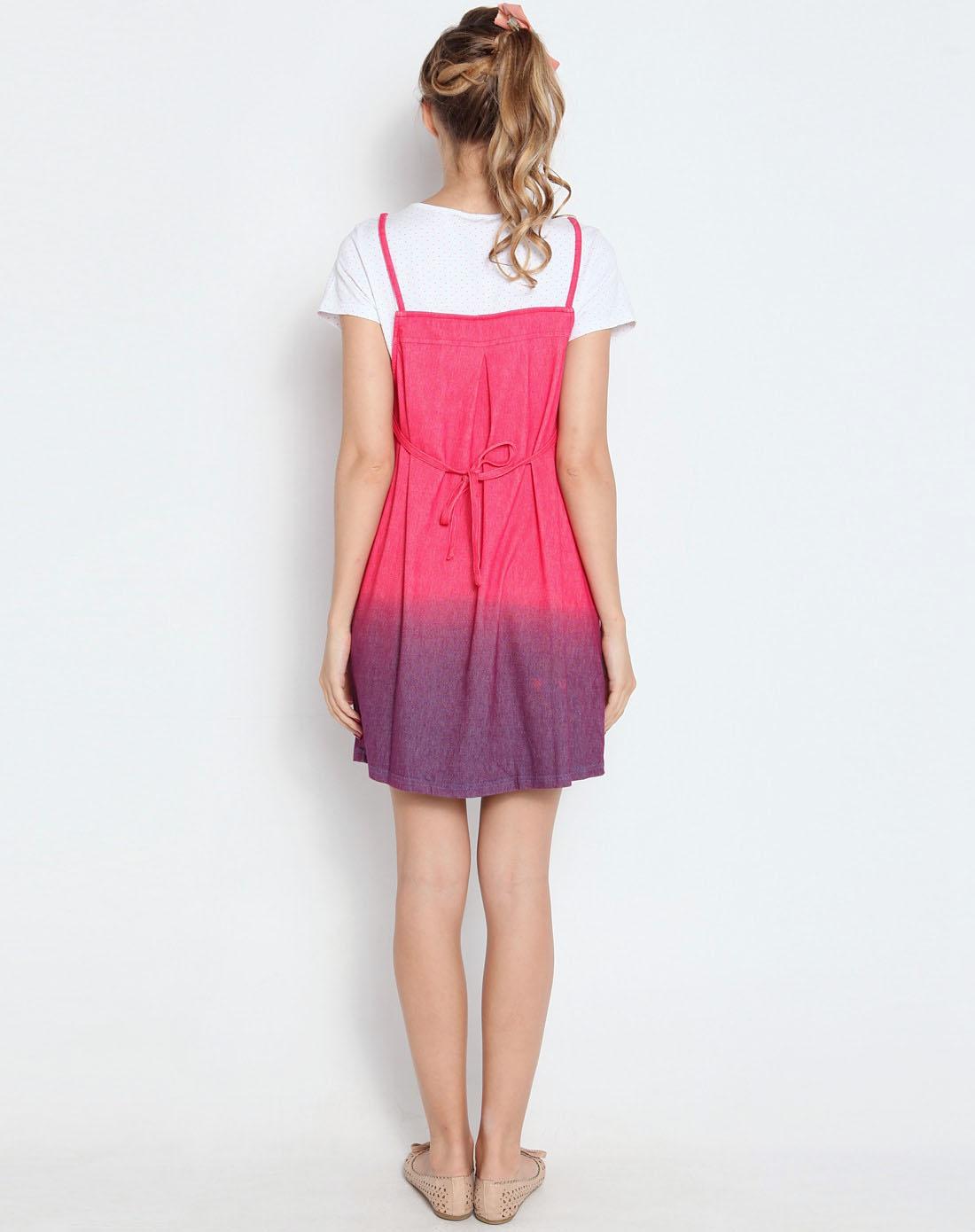 宽松连衣裙渐变色