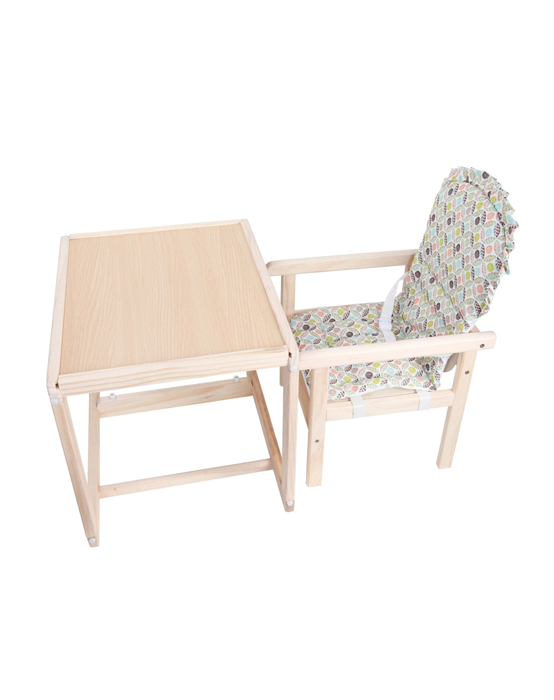 乐奇宝贝 儿童进口新西兰松木实木多功能可组合餐椅原木色h15-01(9个
