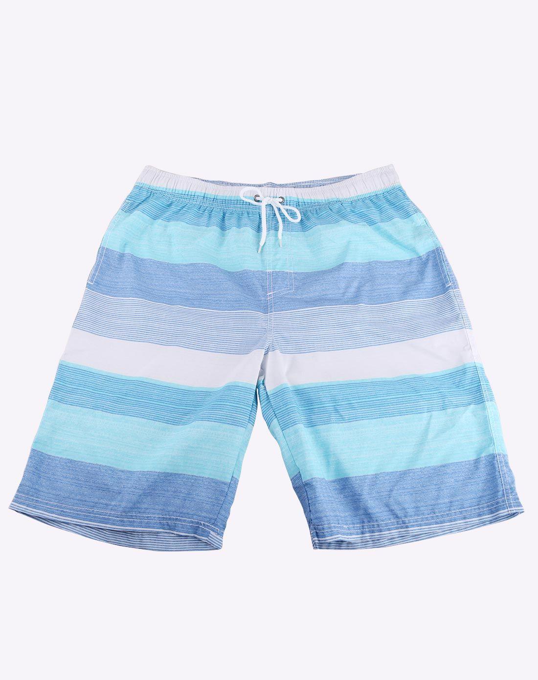 男款蓝色航海家情侣沙滩裤