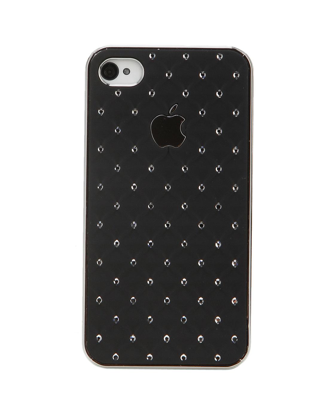 iphone4/4s 黑色彩钻手机套